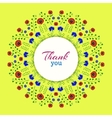 Thank youBright Floral Wreath vector image
