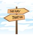 This way that way vector image vector image