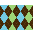 Brown green argyle seamless pattern vector image