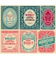 Old cards set with floral details vector image