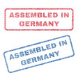 assembled in germany textile stamps vector image