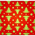 Christmas tree decorative seamless pattern vector image