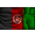 crumpled flag of Afghanistan vector image vector image
