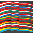 ribbons flags vector image vector image
