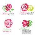flower logo 10 vector image