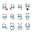 Emotions smiles vector image vector image