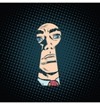 Male face in the keyhole secret mystery vector image