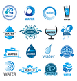 big set of logos water vector image