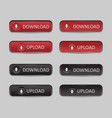button set download and upload vector image