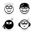 cartoon emotion icons vector image
