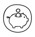 Doodle Piggy Bank icon vector image