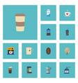 flat icons cup espresso dispenser plastic cup vector image