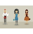 Funny cartoon hipster character young romantic vector image