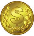 Gold Money Dollar coin vector image