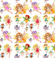 Seamless fairies vector image