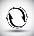 Two arrows loop conceptual icon special abstract vector image