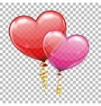 Valentines Day with Hearts Balloons vector image
