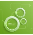 Modern abstract design with 3D glowing rings vector image