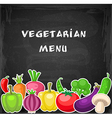 Vegetarian background with vegetables vector image vector image