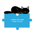 sleeping cat boy vector image
