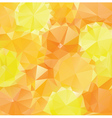 Yellow Orange Polygons2 vector image vector image