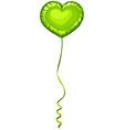 Heart shape balloon in green color vector image
