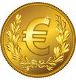 gold Money euro coin vector image vector image