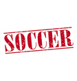 soccer red grunge vintage stamp isolated on white vector image
