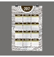 Zentangle colorful calendar 2017 hand painted in vector image