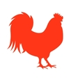 Red Fire Rooster Symbol of vector image