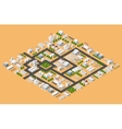 Top view of the city vector image vector image