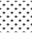 Black spotty teapot pattern simple style vector image