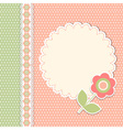 Vintage template with flower vector image