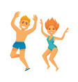 people at summer beach on holiday vacations vector image