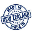 made in new zealand blue grunge round stamp vector image