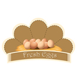 A fresh eggs label with eggs vector image