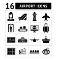 Set icons of airport vector image vector image