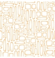 Seamless pattern with abstract doodle square vector image