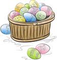 basket of easter eggs vector image