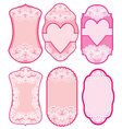 love labels lace 380 vector image vector image