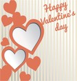 Valentines day card love symbol vector image vector image