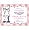 Lingerie bridal shower invitation vector image