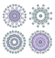 round ornamental pattern vector image vector image