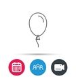 Balloon icon Party decoration sign vector image