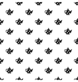 Black spotty teapot pattern simple style vector image