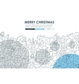Christmas Doodle Website Template Design vector image