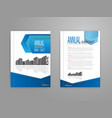 cover annual report brochure flyer template vector image