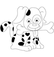 cute dog sketch vector image