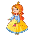 Cute Princess stand on a white background vector image