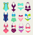 fashion Collection Swimming suits vector image